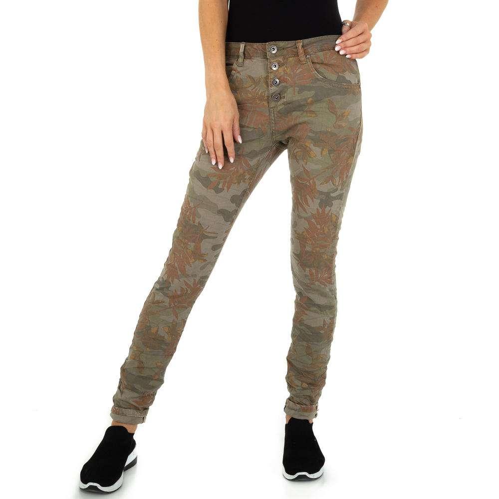 Blugi Skinny pentru femei marca Place du Jour - khaki