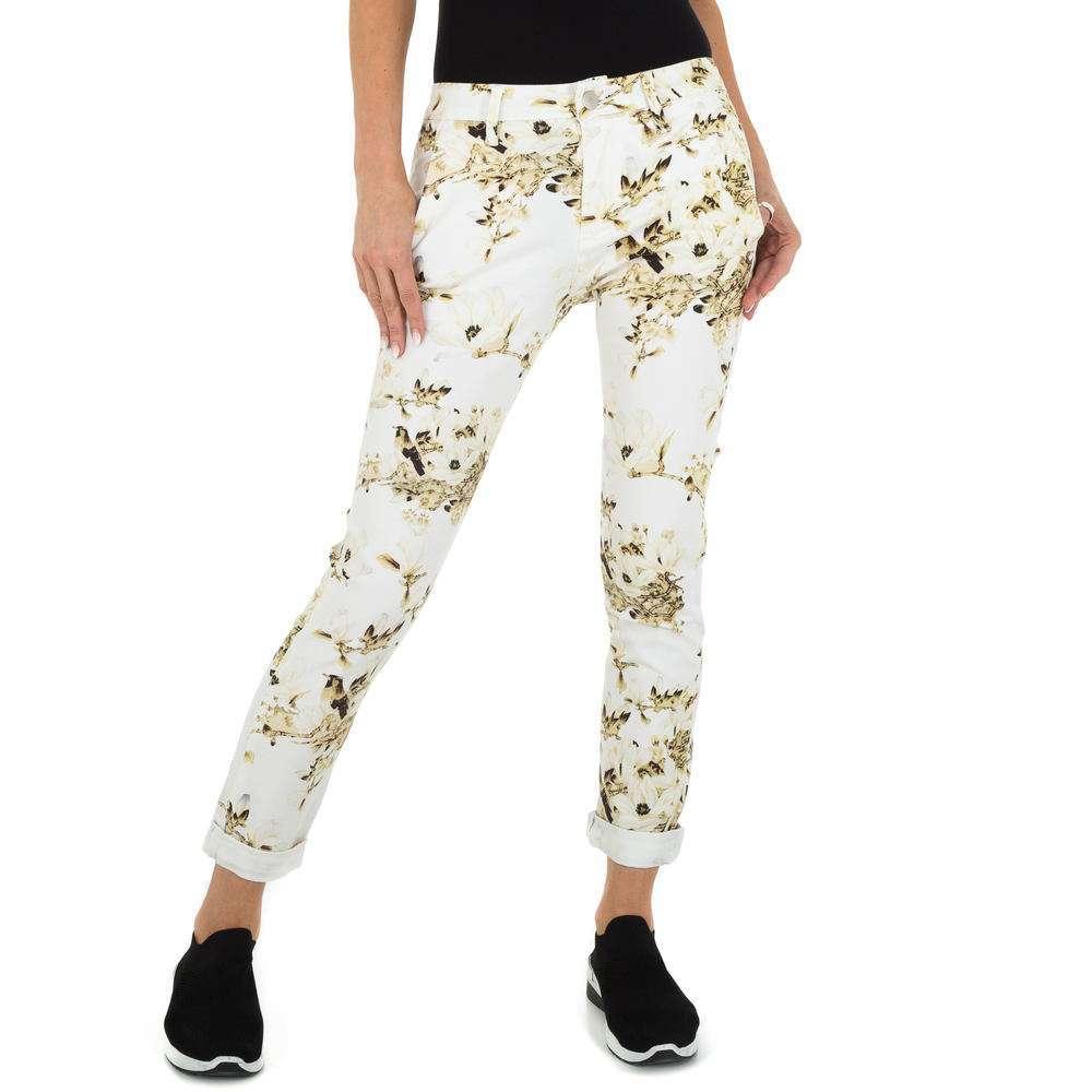 Pantaloni Skinny pentru femei marca Place du Jour - crem