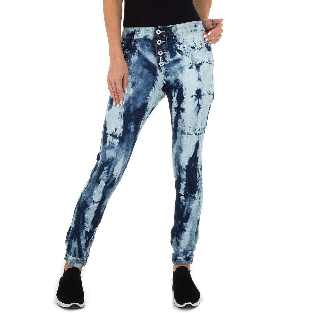 Blugi Skinny pentru femei marca Place du Jour - albastră