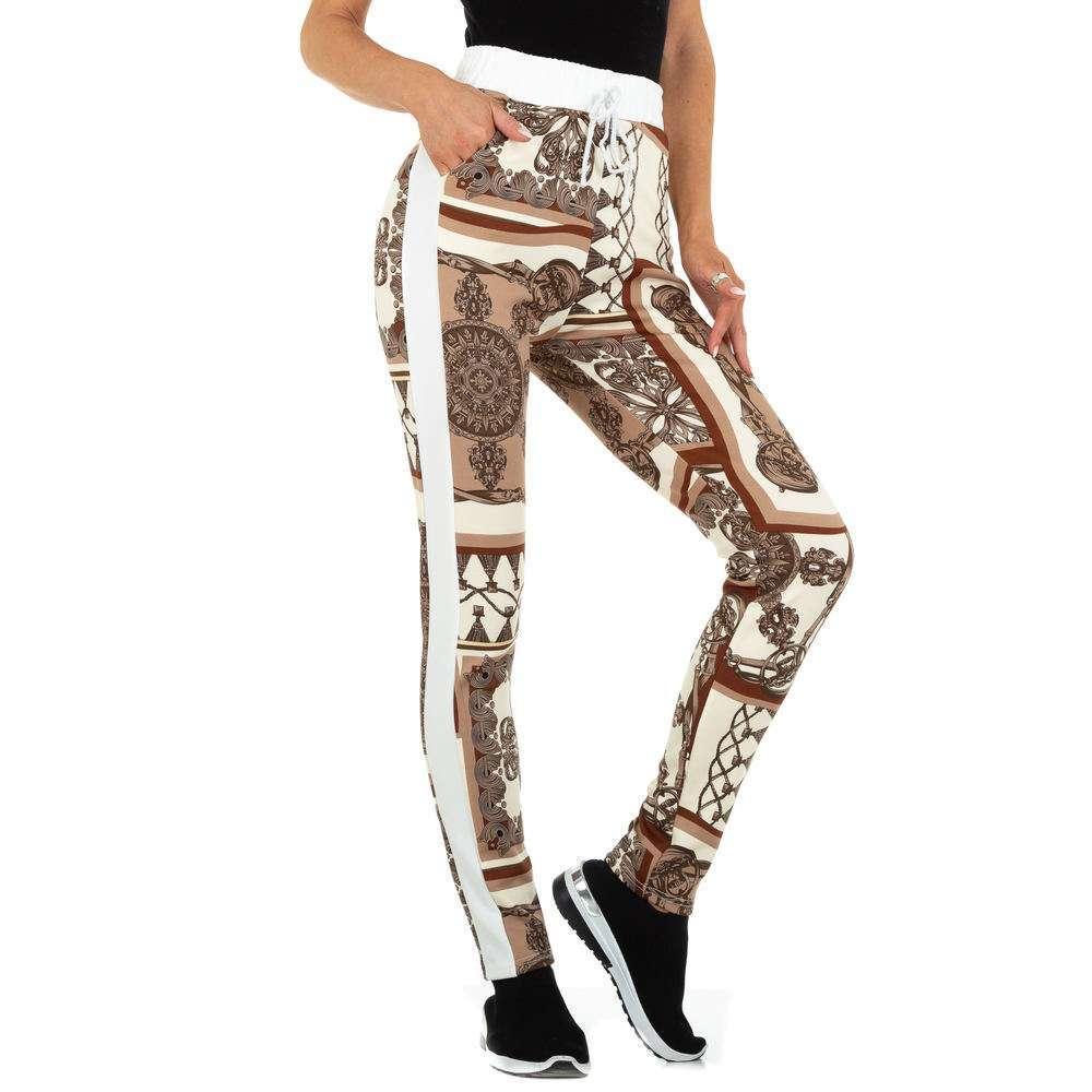 Pantaloni din stofă pentru femei marca Holala - bej