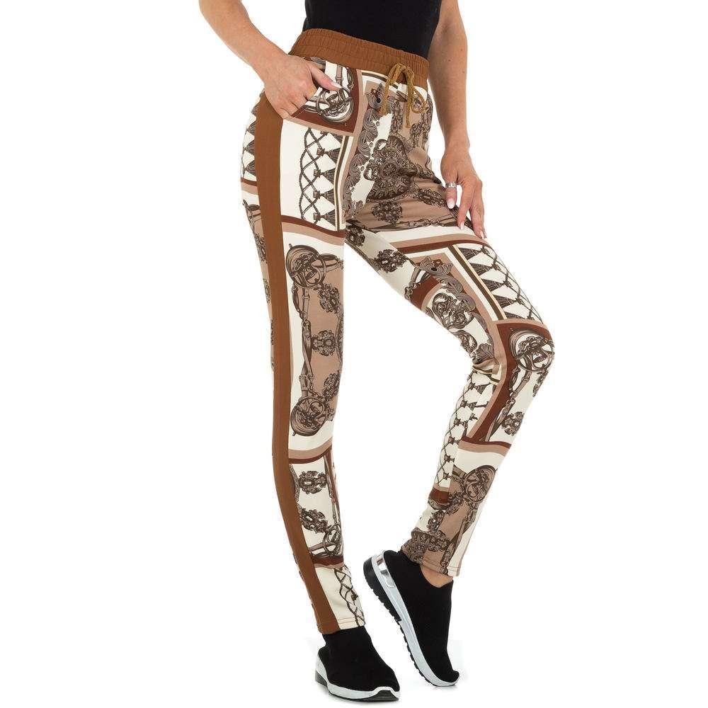 Pantaloni din stofă pentru femei marca Holala - cafenii