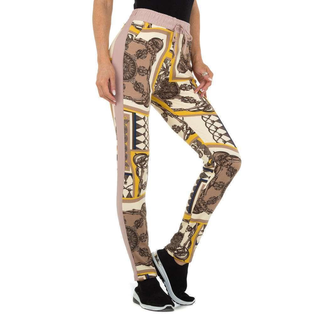 Pantaloni din stofă pentru femei marca Holala - taupe