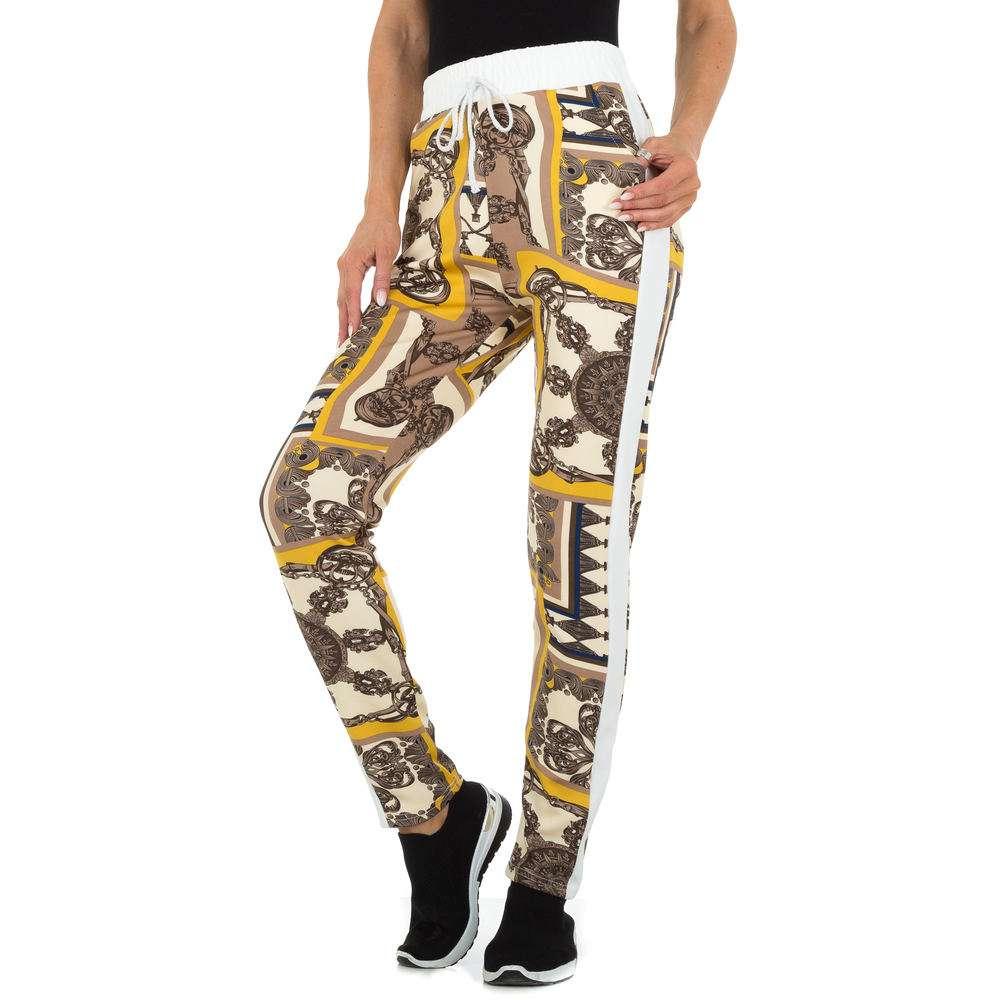 Pantaloni din stofă pentru femei marca Holala - albă