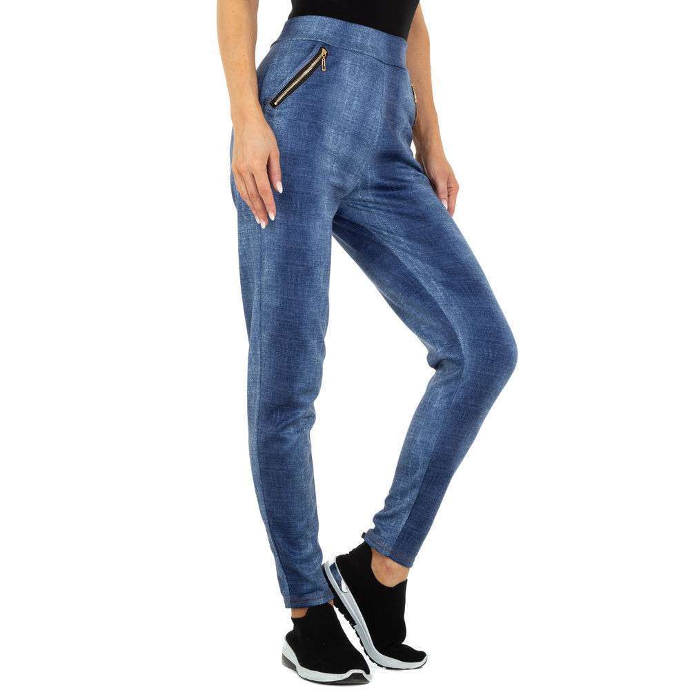 Jambiere cu aspect de Jeans pentru femei marca Holala - albastră