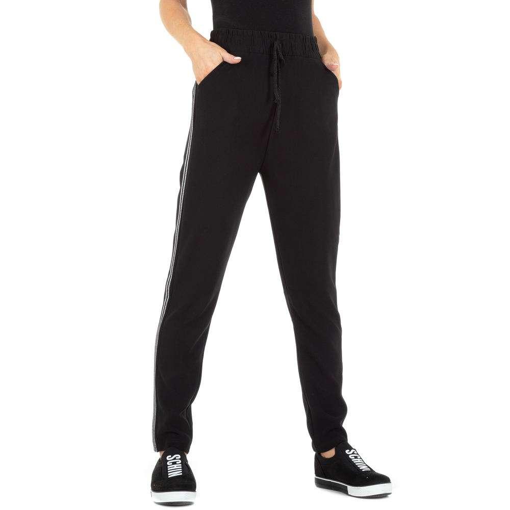Pantaloni sport pentru femei marca Holala - negru - argintiu