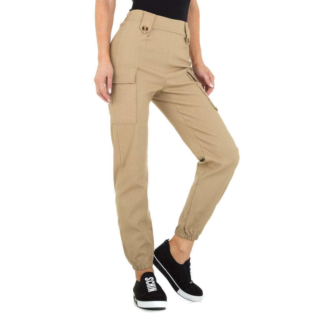 Pantaloni Boyfriend pentru femei marca Holala - bej