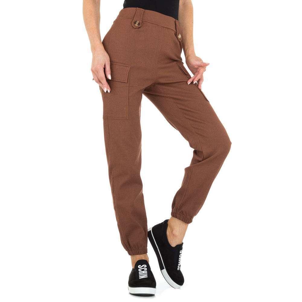 Pantaloni Boyfriend pentru femei marca Holala - cafenii