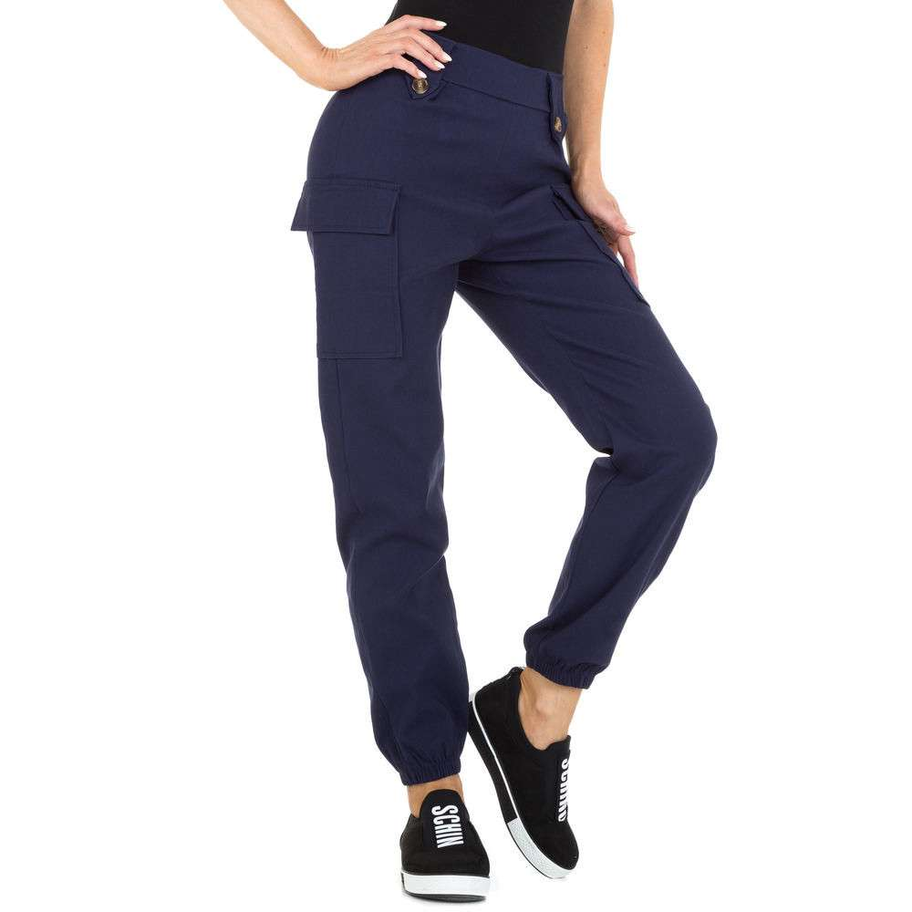 Pantaloni Boyfriend pentru femei marca Holala - albastru închis
