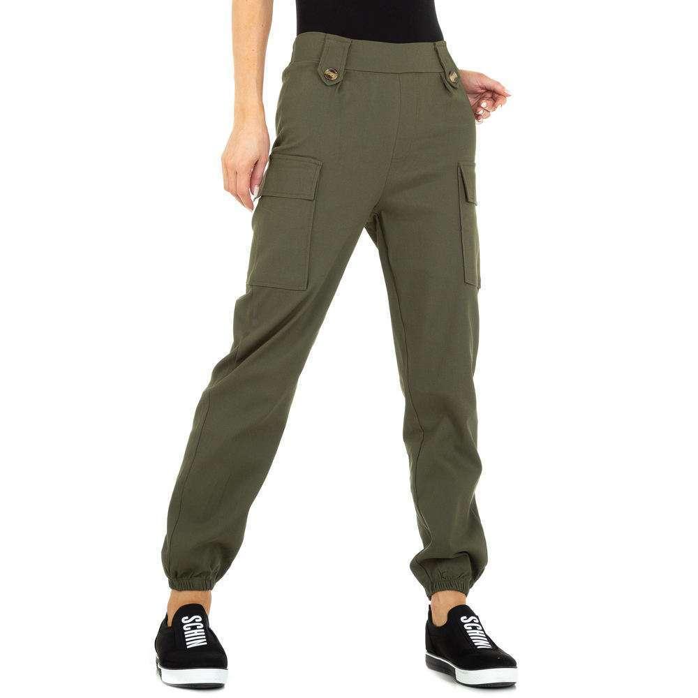 Pantaloni Boyfriend pentru femei marca Holala - khaki