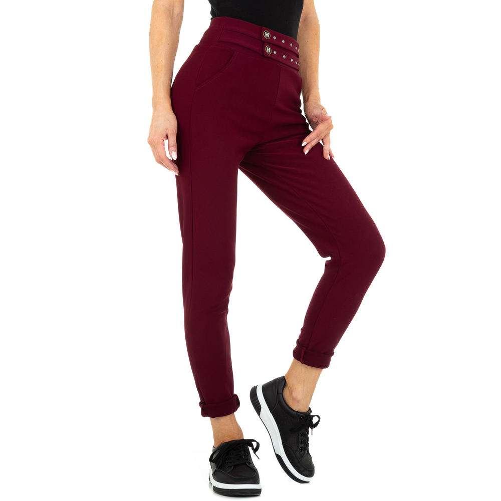 Pantaloni Casual pentru femei marca Holala - visiniu