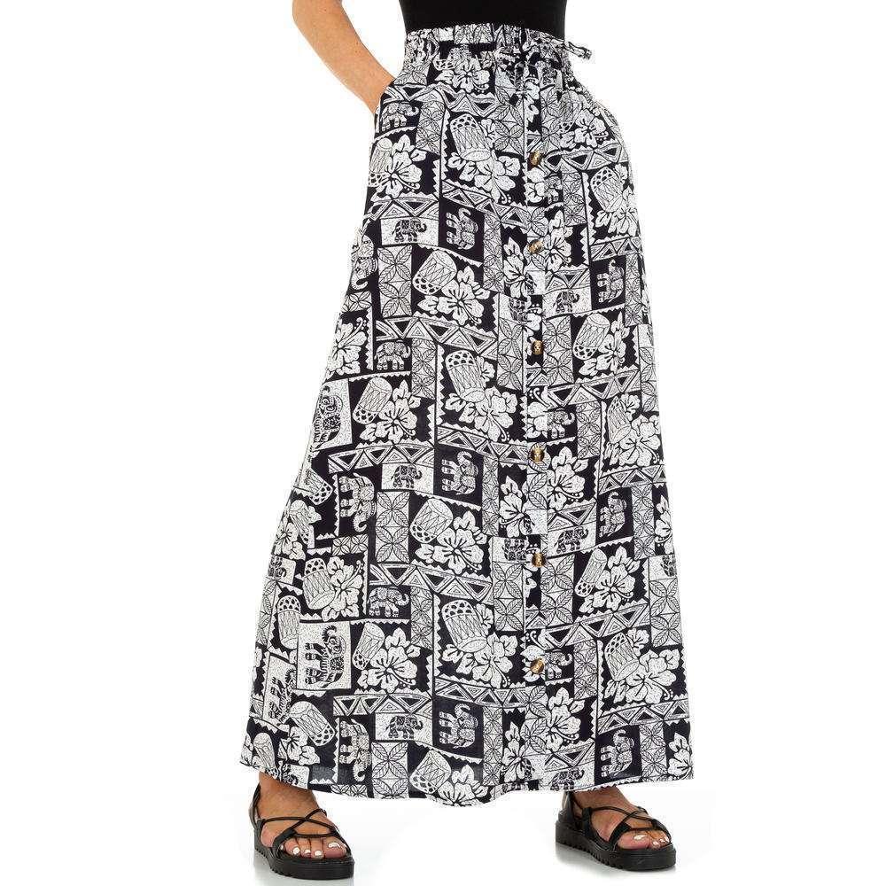 Fustă Maxi pentru femei marca Holala - neagrăalbă