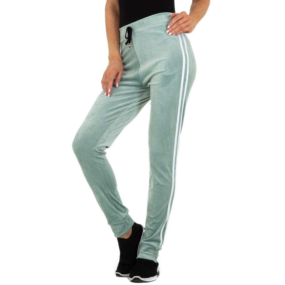 Pantaloni sport pentru femei marca Holala - verde deschis