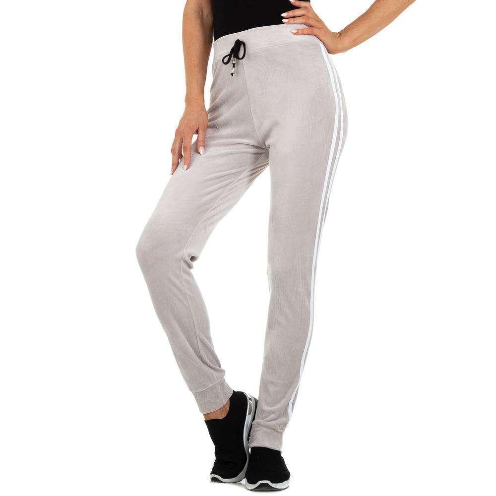 Pantaloni sport pentru femei marca Holala - gri deschis