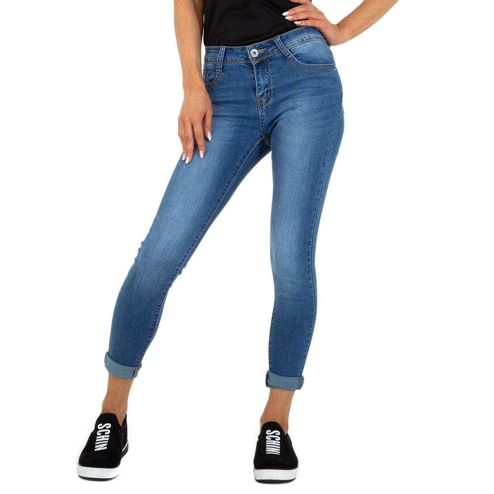 Blugi cu talie înaltă pentru femei marca Miss Curry - albastră
