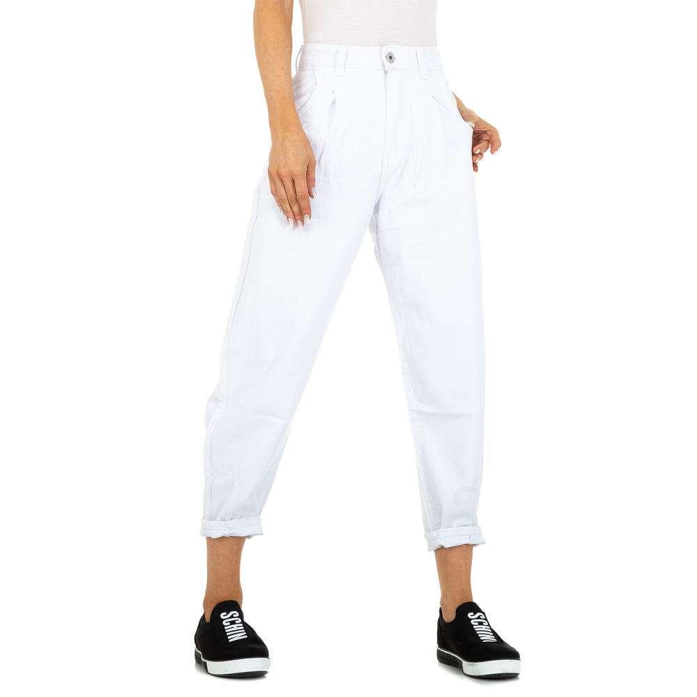 Blugi cu talie înaltă pentru femei marca M.Sara - albă