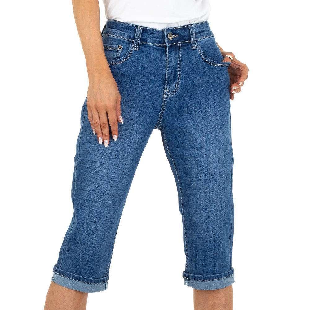 Blugi Capri pentru femei marca R-Ping Jeans - albastră