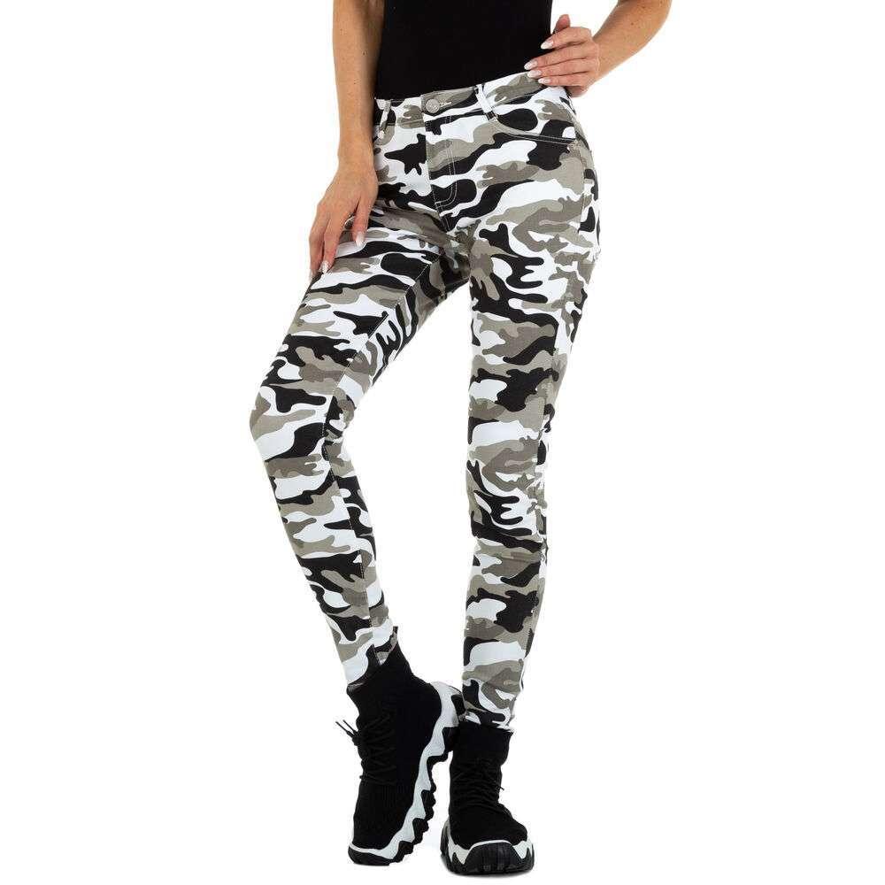 Blugi Skinny pentru femei marca M.Sara - camouflage