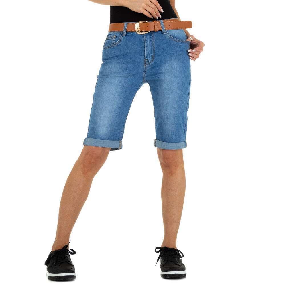 Pantaloni scurți din denim pentru femei marca Miss Curry - albastră