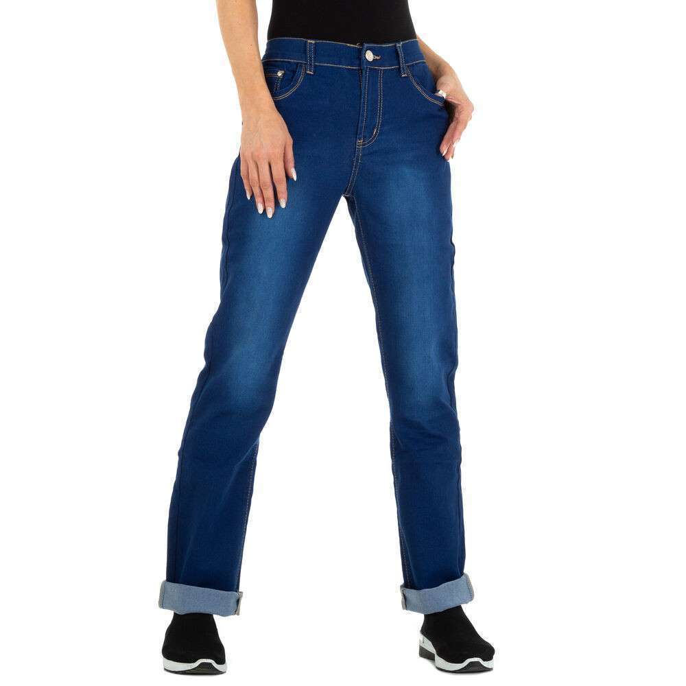 Blugi cu picior drept pentru femei marca Miss Cherry - albastră