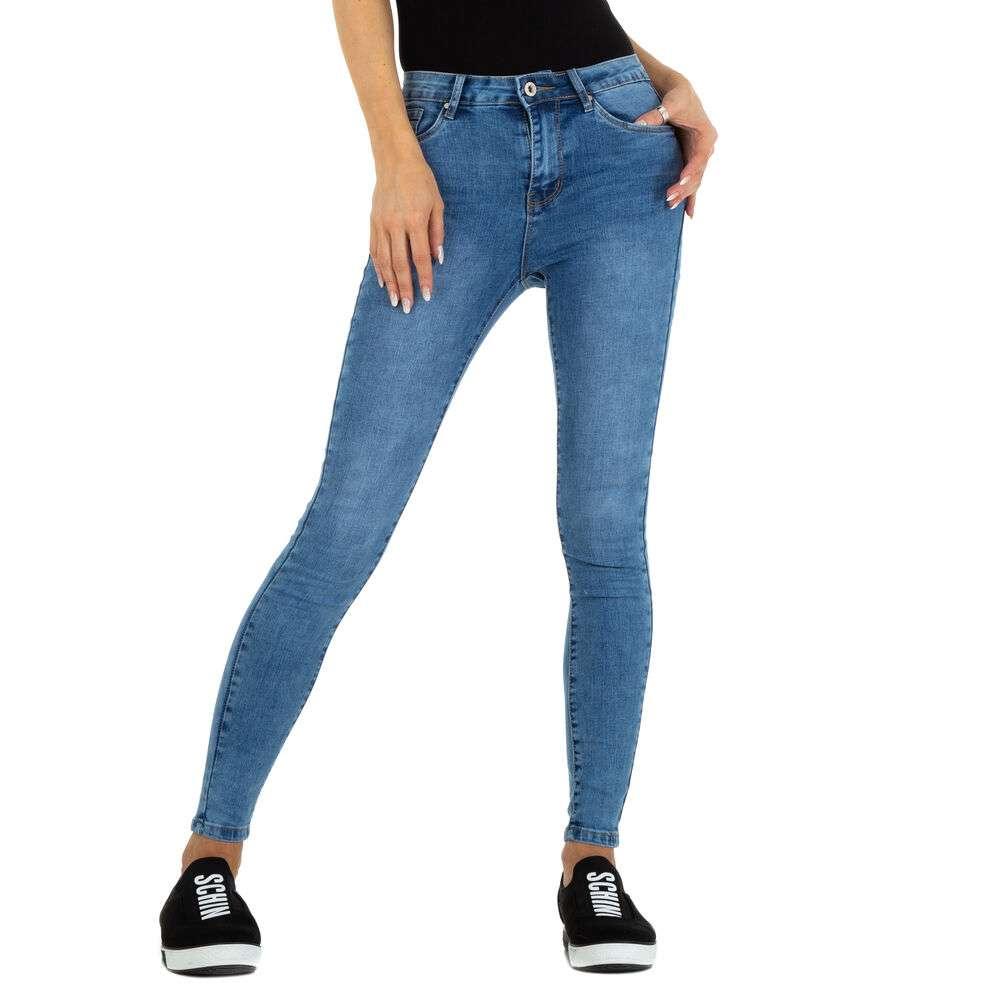 Blugi Skinny pentru femei marca M.Sara - albastră