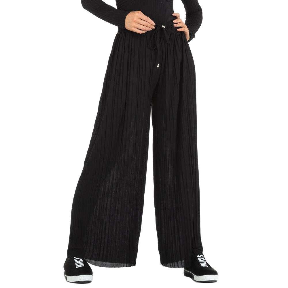 Pantaloni din stofă pentru femei marca Holala - neagră