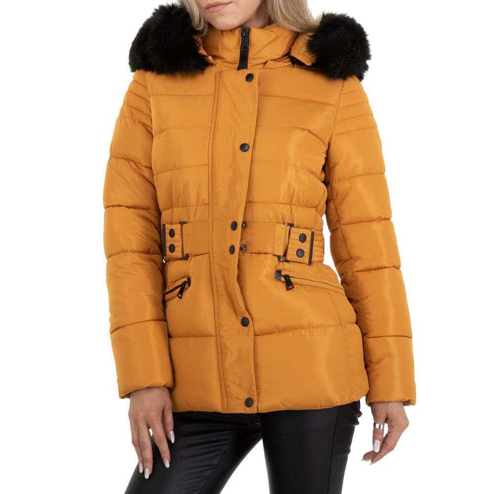 Geacă de iarnă pentru femei marca Egret - galben