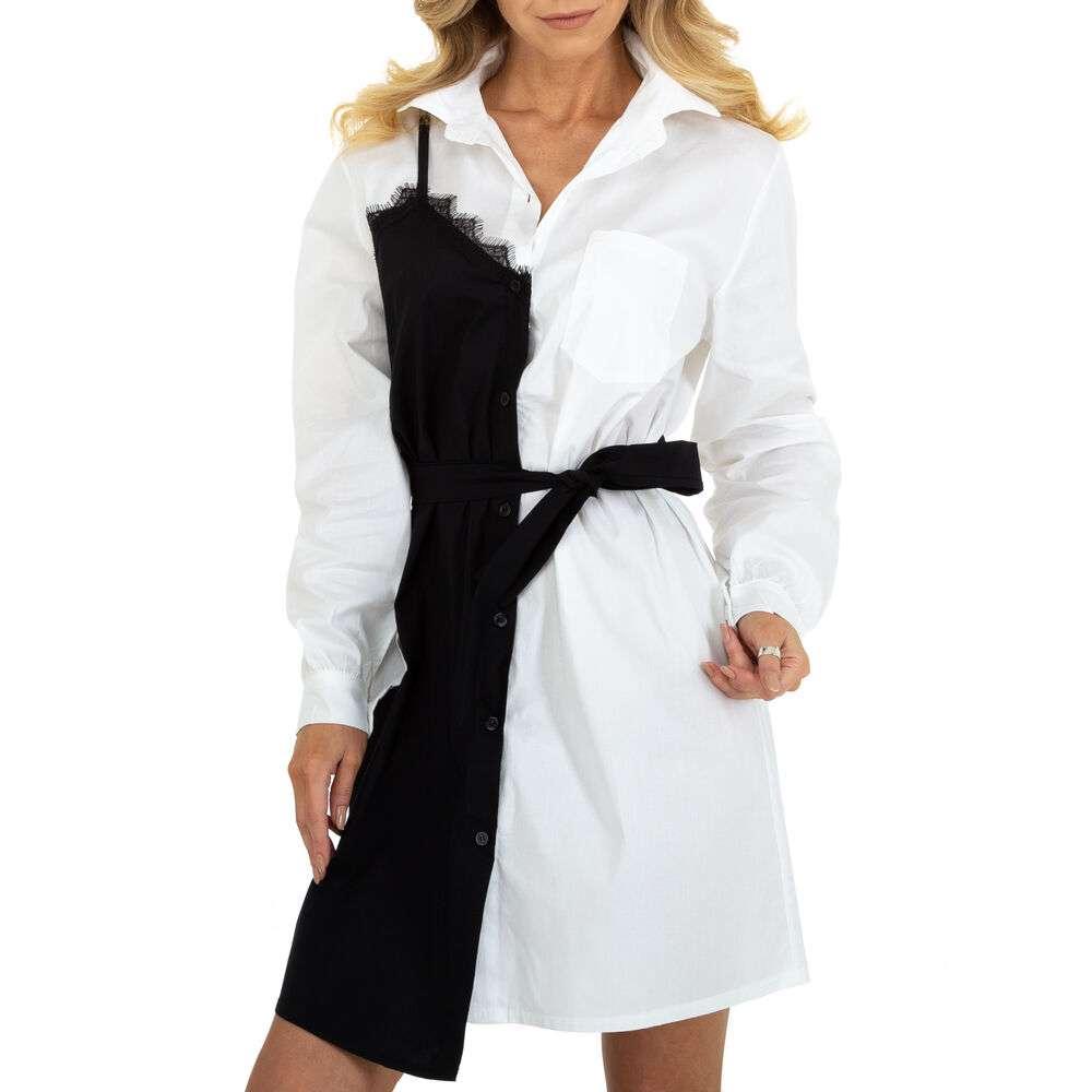 Rochie bluză pentru femei marca BY Julie Gr. O mărime - albă