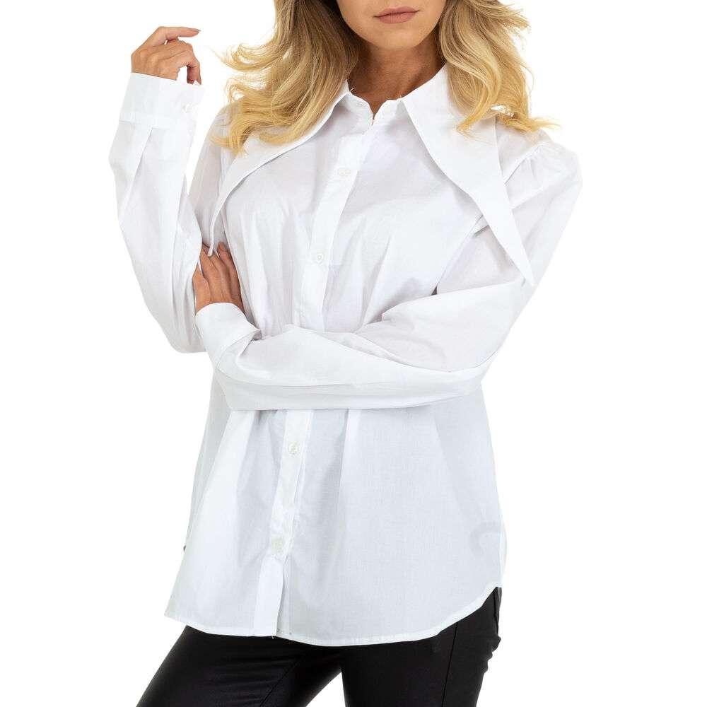 Bluză cămașă pentru femei marca BY Julie Gr. O mărime - albă