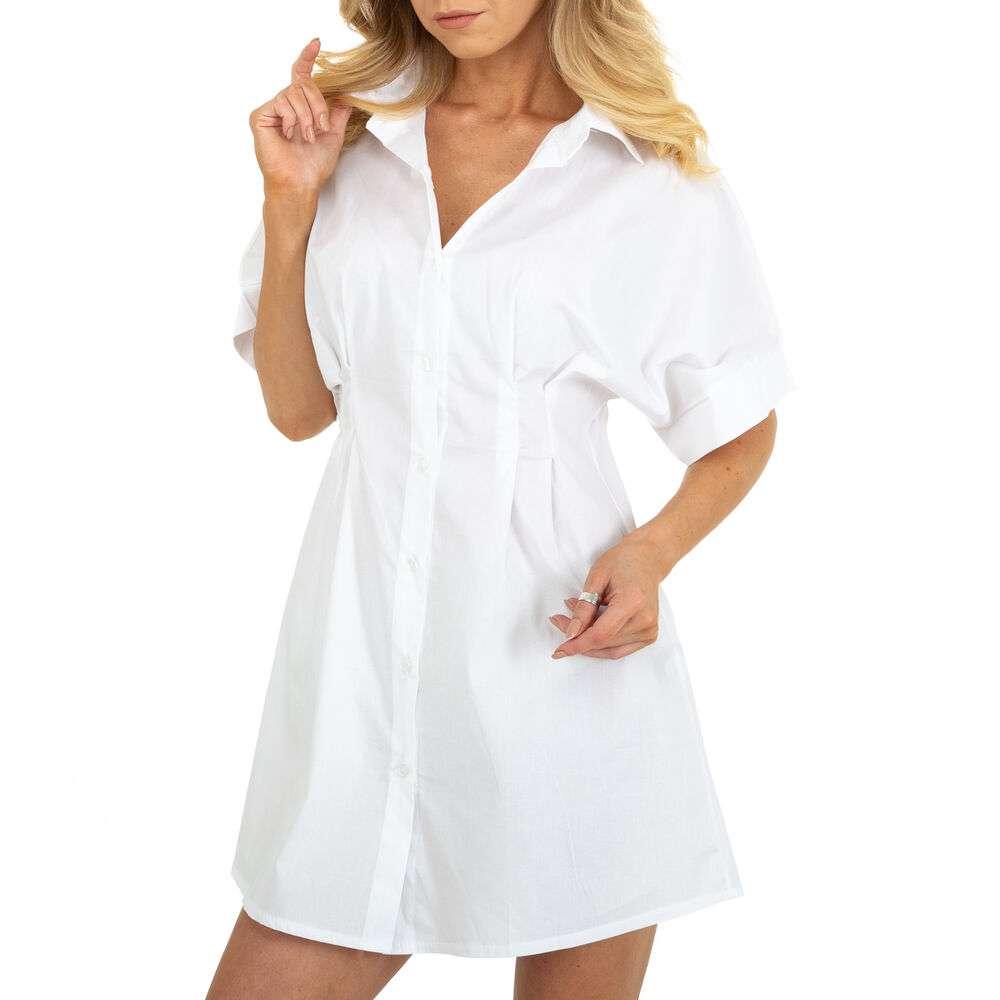 Rochie bluză pentru femei marca BY Julie - albă