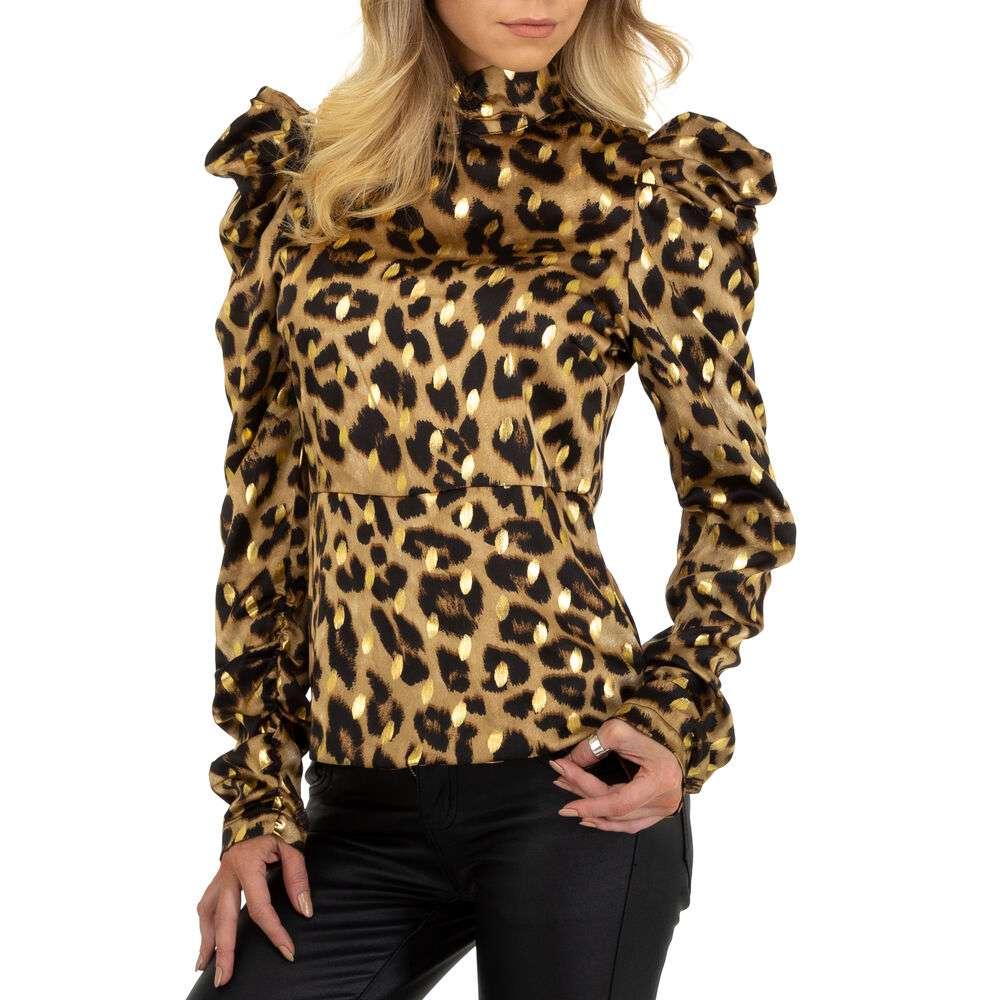 Bluză cămașă pentru femei marca SHK Paris - aurii