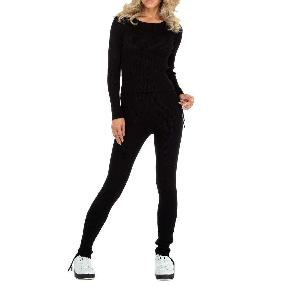 Costum de jogging și agrement pentru femei marca EMMA & ASHLY - neagră