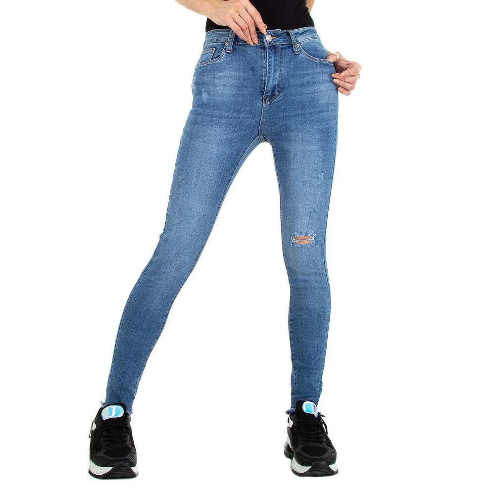 Blugi Skinny pentru femei marca Colorful Premium - albastră