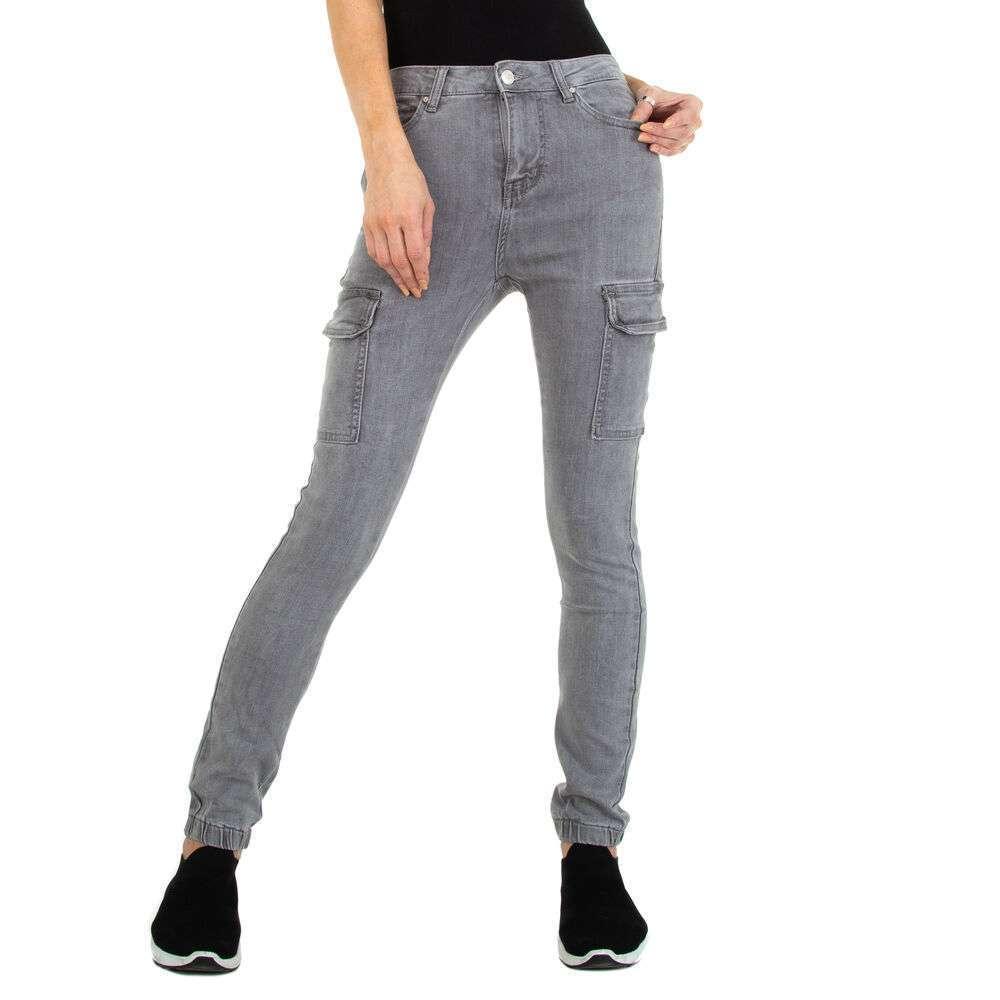 Blugi Skinny pentru femei marca Colorful Premium - gri