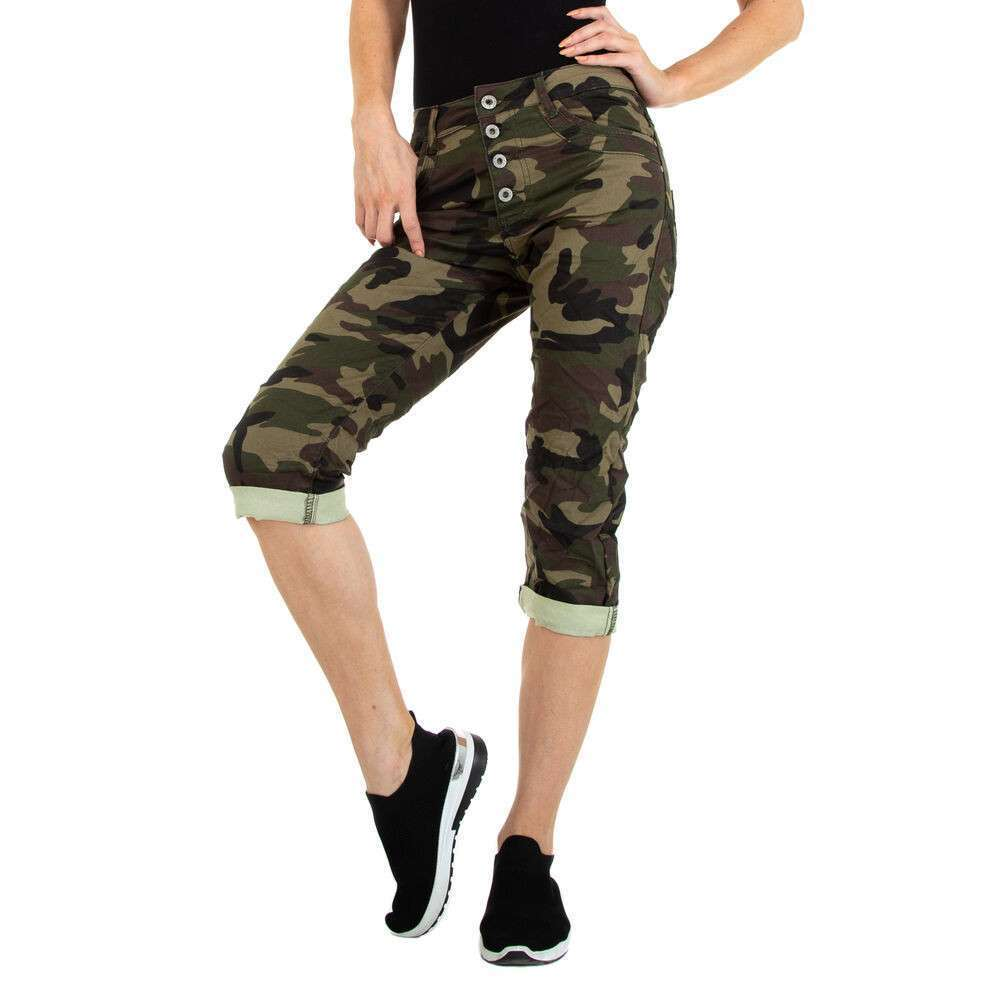 Blugi Capri pentru femei marca Colorful Premium - verde armată