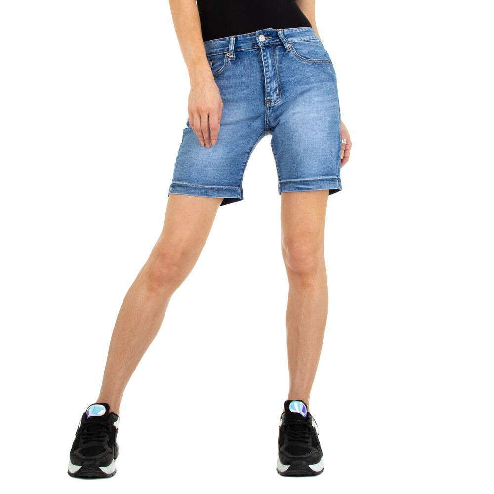 Pantaloni scurți din denim pentru femei marca Colorful Premium - albastră