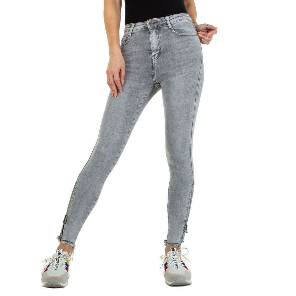 Blugi Skinny pentru femei marca Daysie - gri deschis