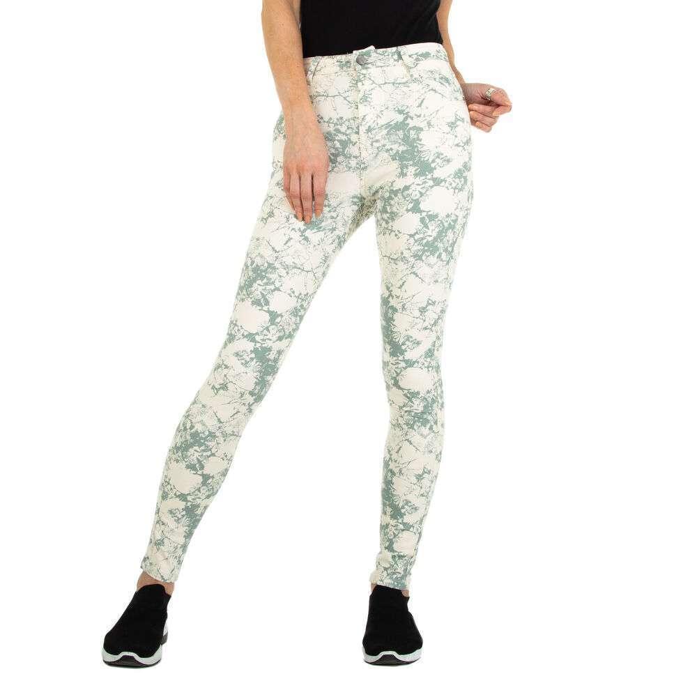 Blugi cu talie înaltă pentru femei marca Daysie - verde