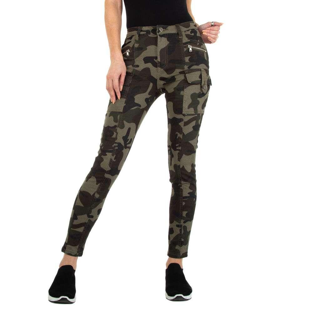 Blugi Skinny pentru femei marca Daysie - verde armată
