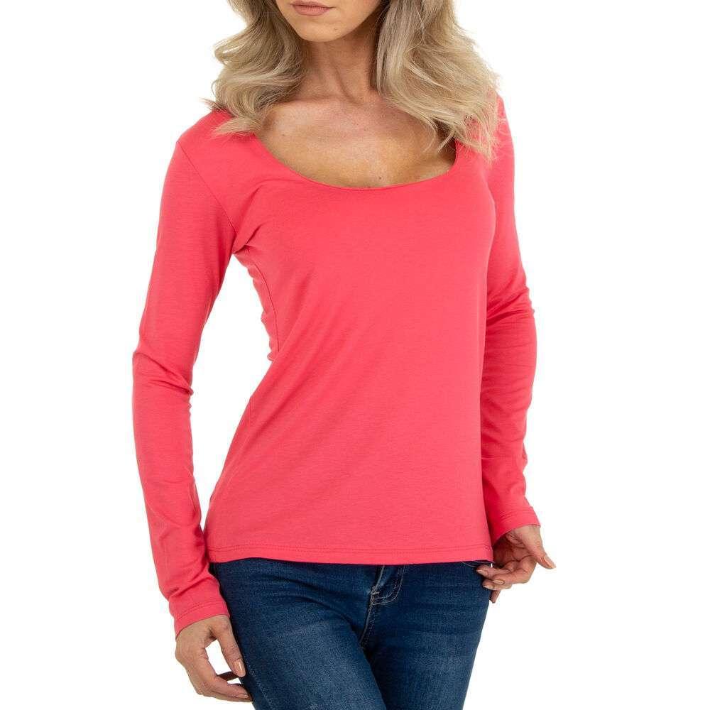 Tricou cu mâinicele lungi marca METROFIVE - roz