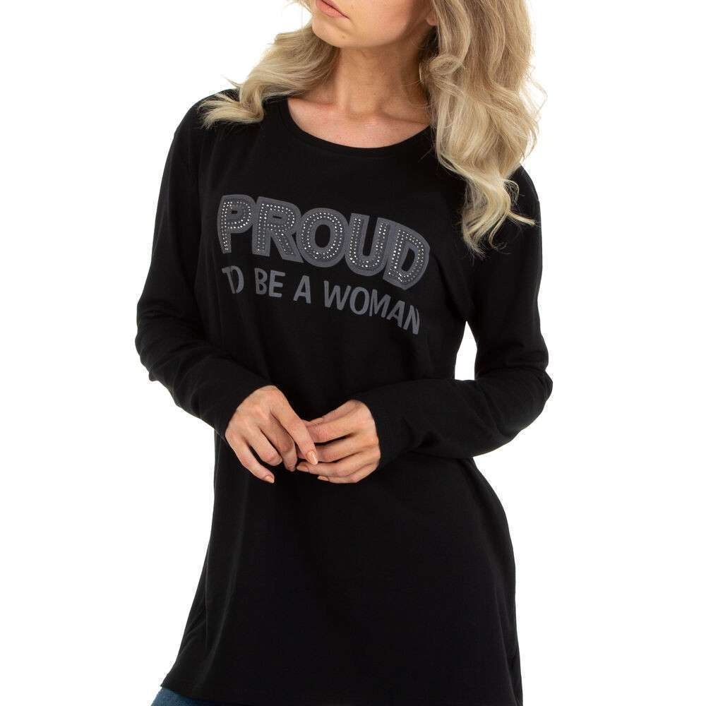 Tricou cu mâinicele lungi marca METROFIVE - neagră