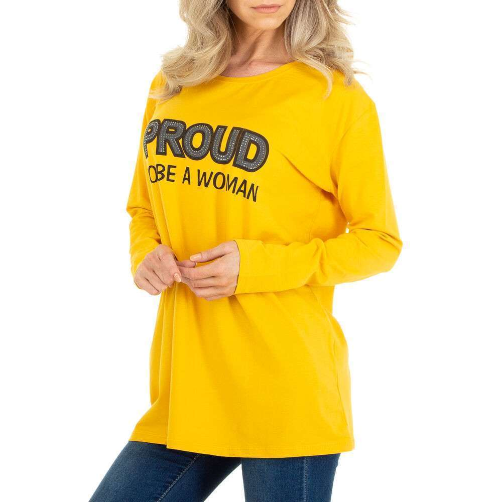 Tricou cu mâinicele lungi marca METROFIVE - galben