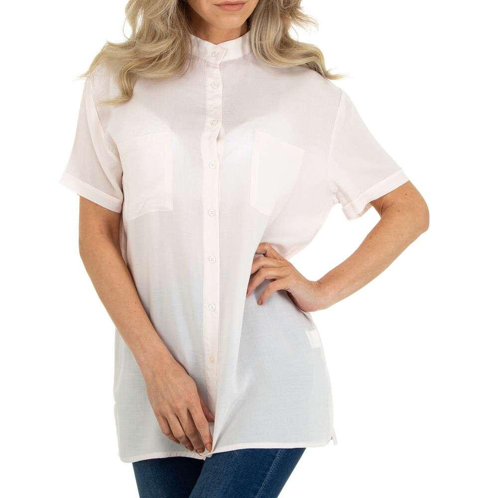 Bluză cămașă pentru femei marca METROFIVE - roz deschis