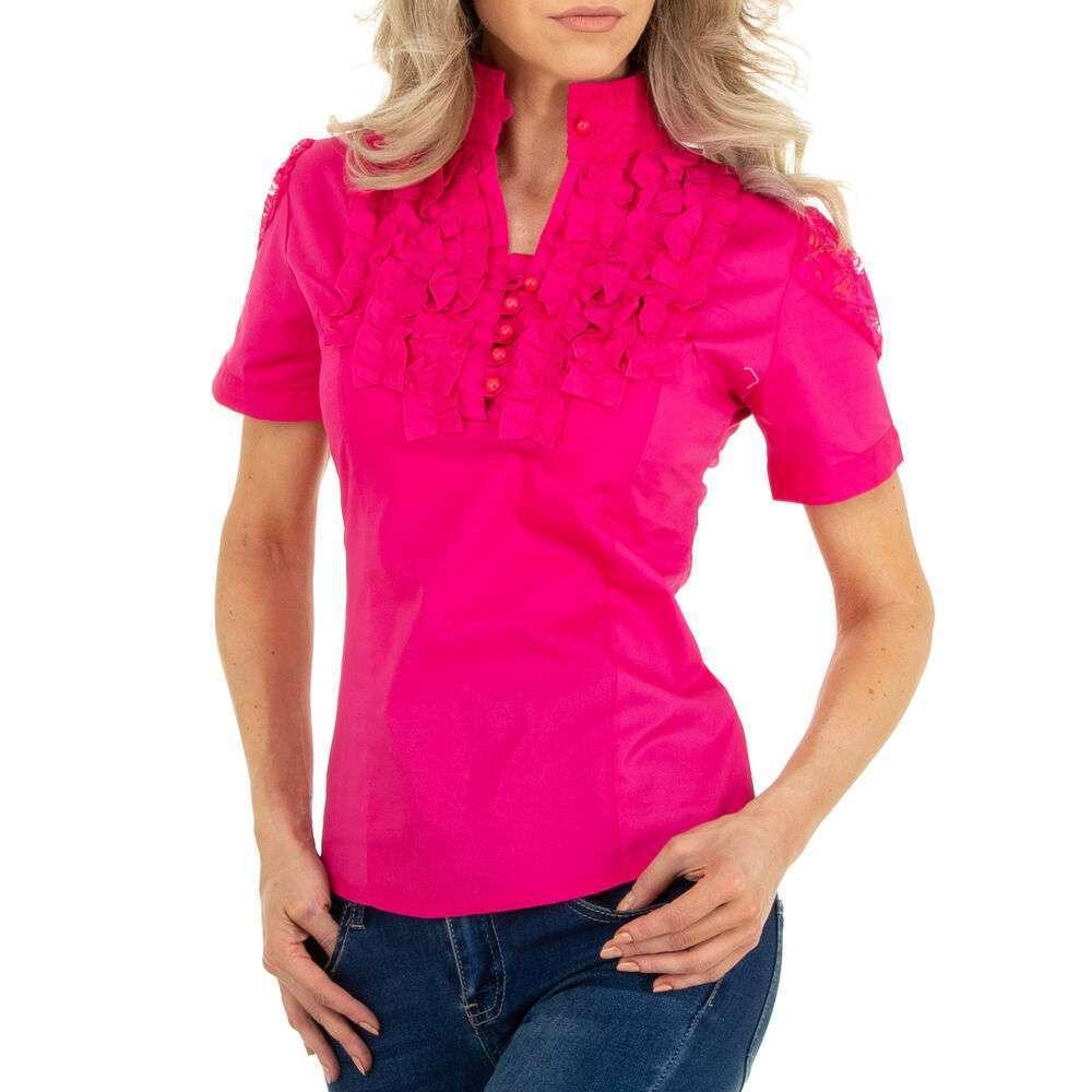 Bluză cămașă pentru femei marca METROFIVE - fuchsia