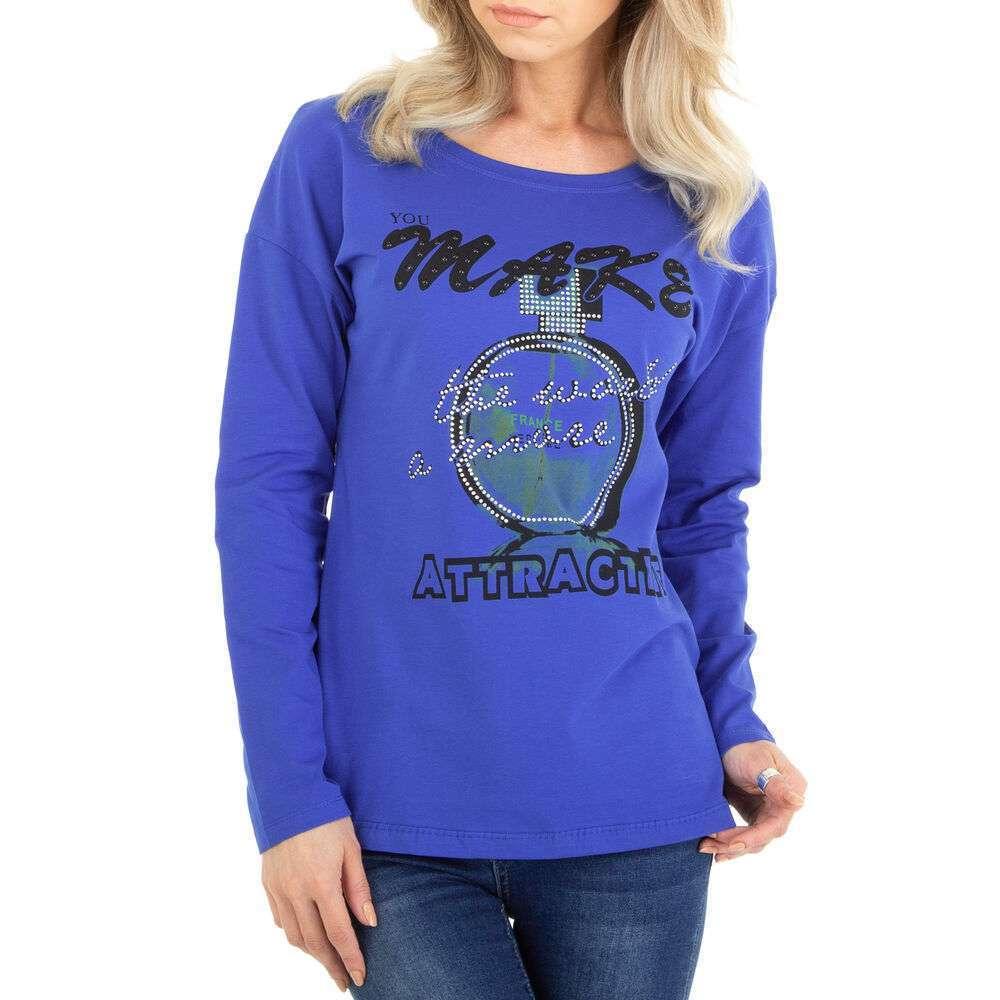 Tricou cu mâinicele lungi marca Metrofive - albastră