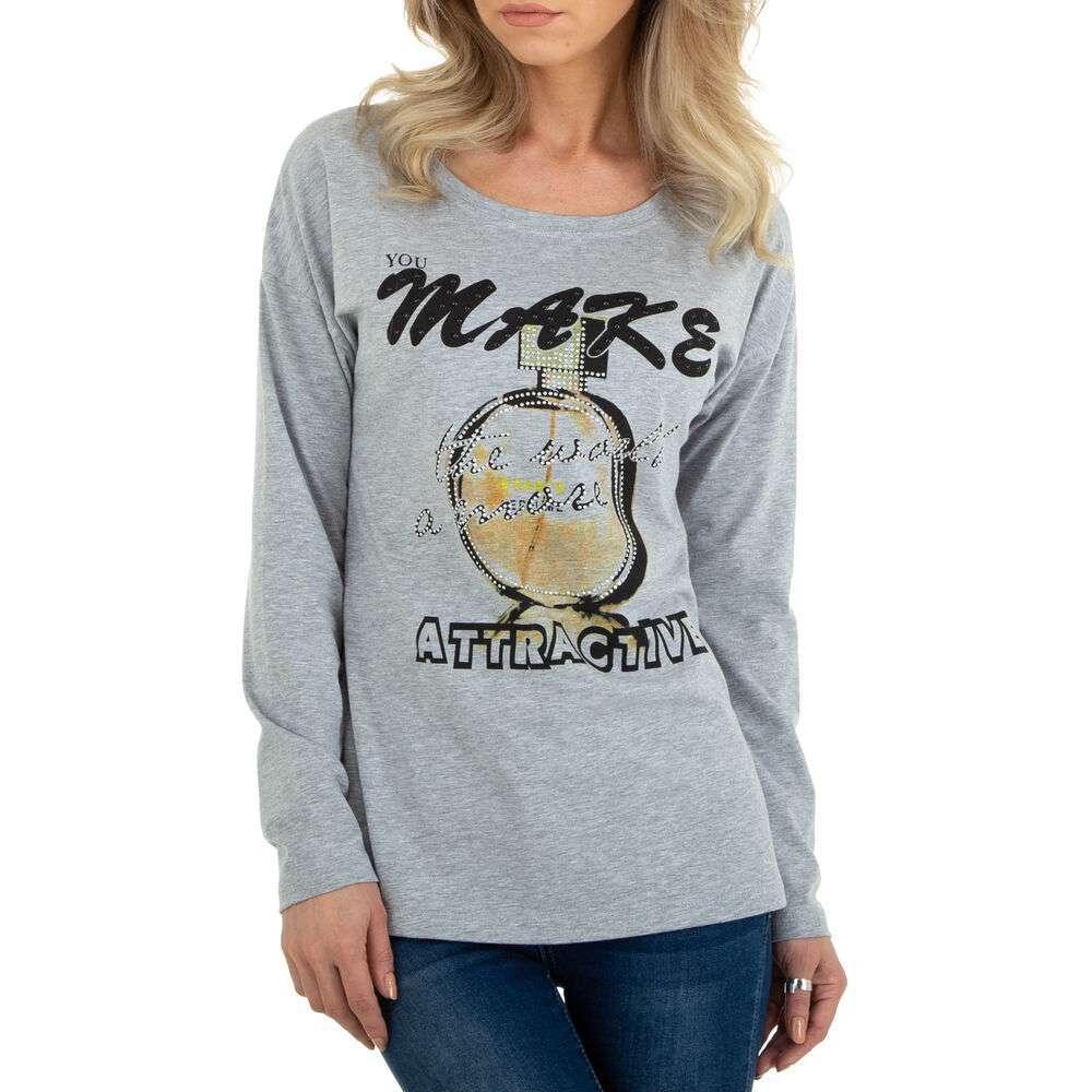Tricou cu mâinicele lungi marca Metrofive - gri