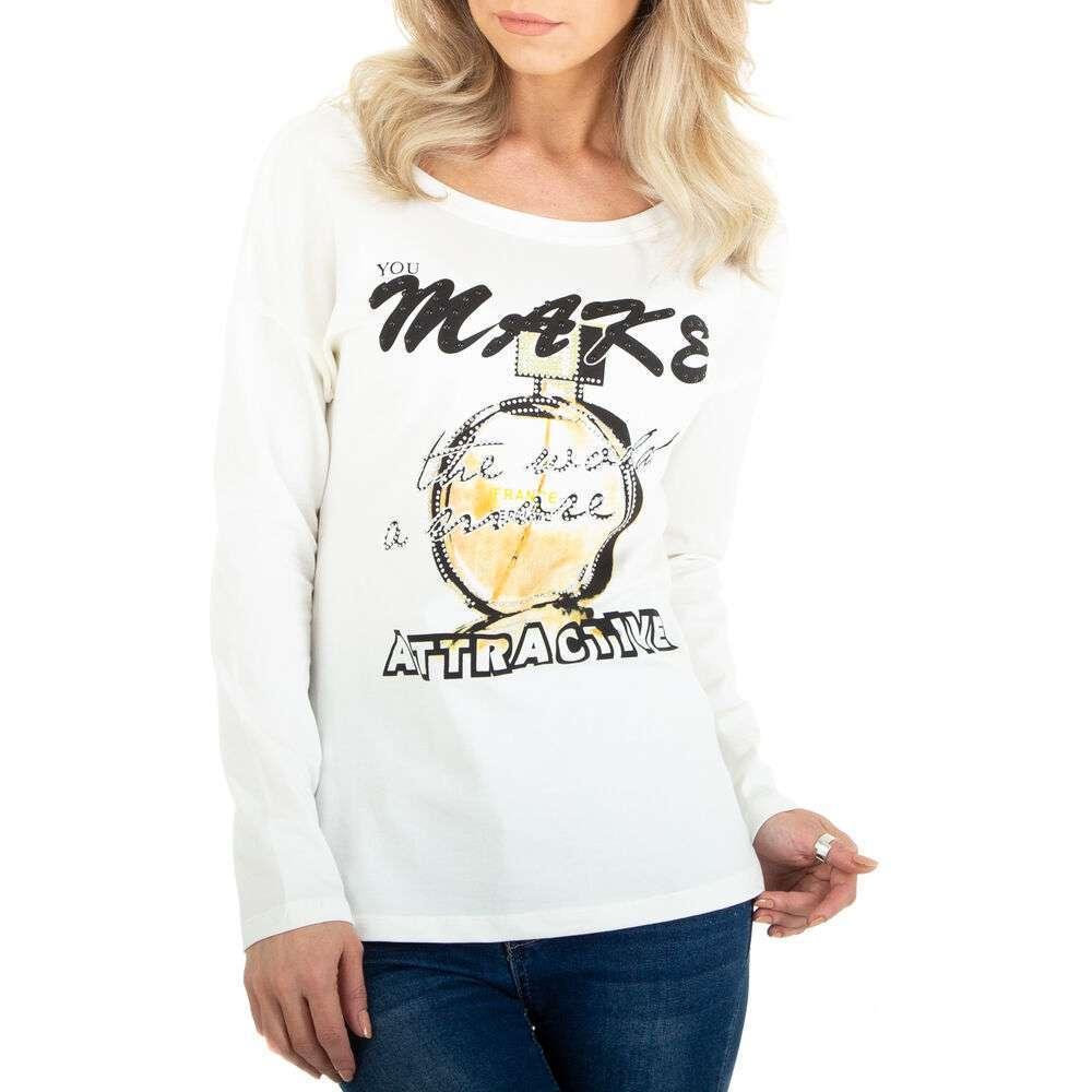 Tricou cu mâinicele lungi marca Metrofive - albă