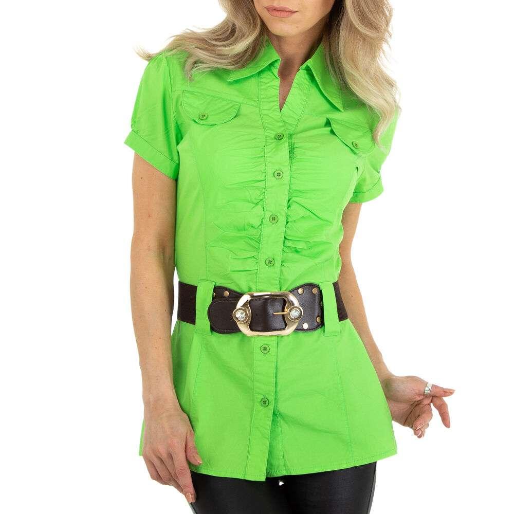 Bluză cămașă pentru femei marca Metrofive - verde