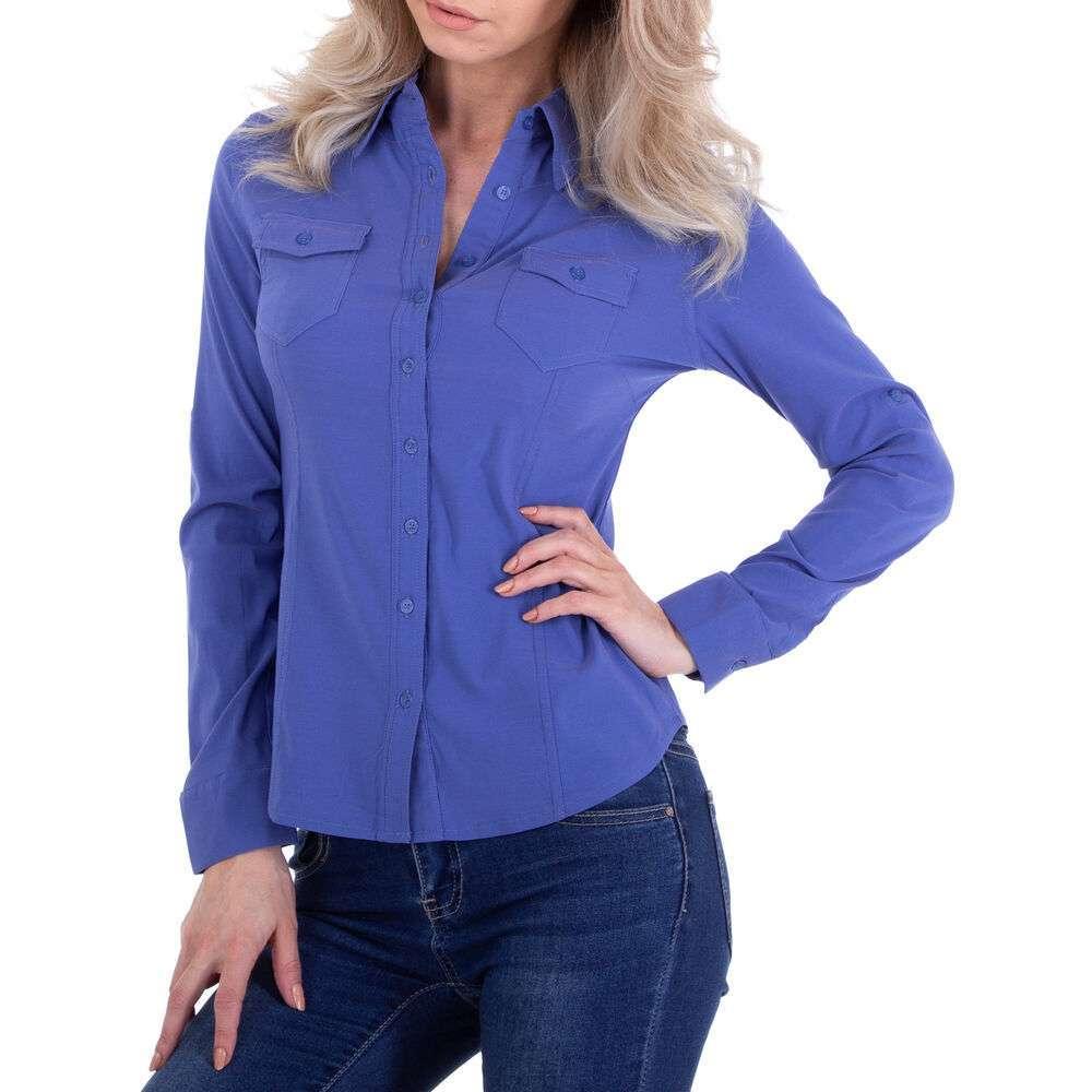 Bluză cămașă pentru femei marca Metrofive - albastră