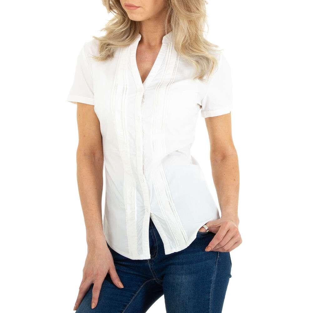 Bluză cămașă pentru femei marca Metrofive - alb - închis