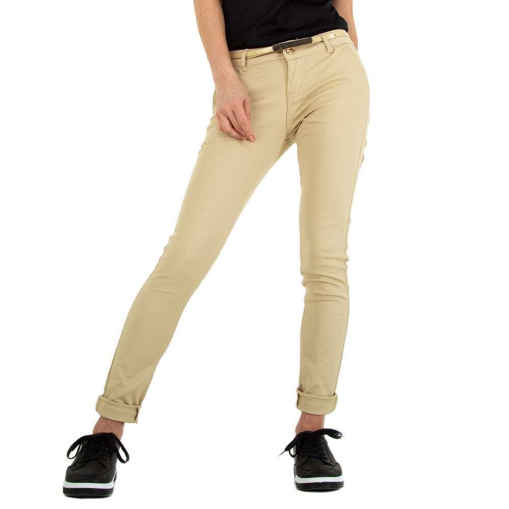 Pantaloni Skinny pentru femei marca M.Sara - crem